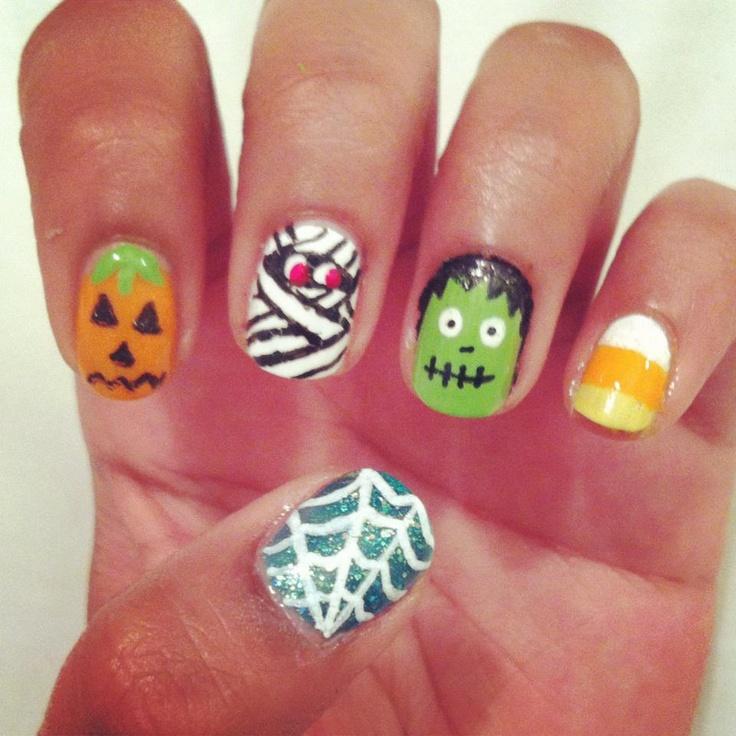 Halloween Nail Polish Designs: 26 Best Halloween Nail Polish Designs Images On Pinterest