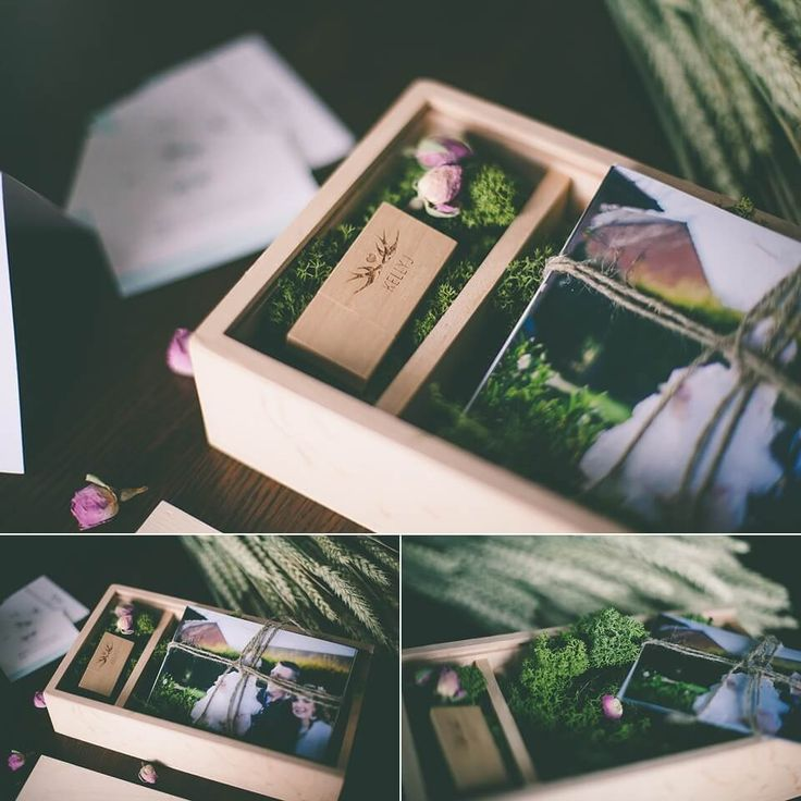 Wedding Photography Packaging - Wooden USB Box.