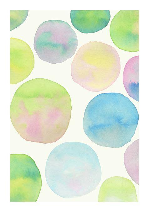 Vans trend / Watercolor dots.