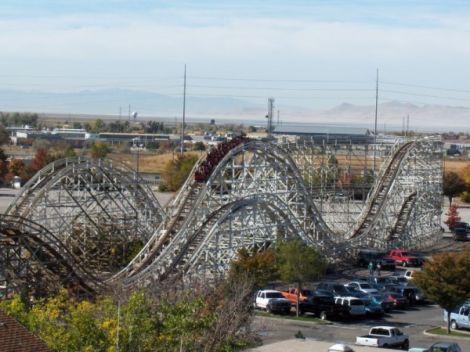 Classic roller coaster, Lagoon Amusement Park, Farmington, Utah.