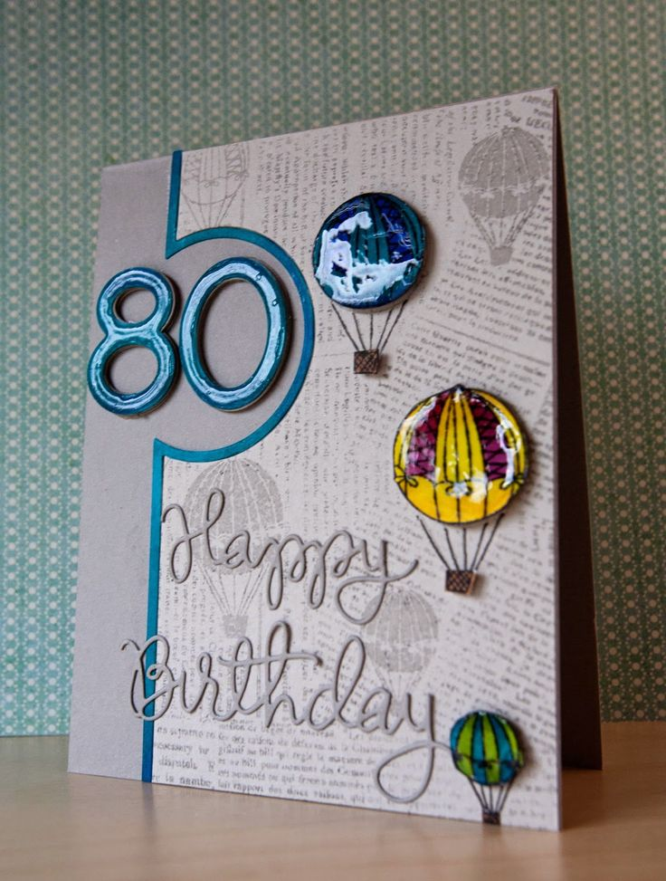 Simon Says Stamp Spotted an80th Birthday card by Jill Vickers using Simon Says Stamp Exclusives.  October 2014