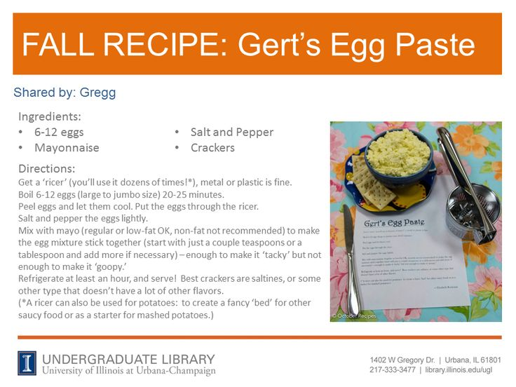 Gert's Egg Paste recipe from Gregg. Internet Site,  Website, Web Site