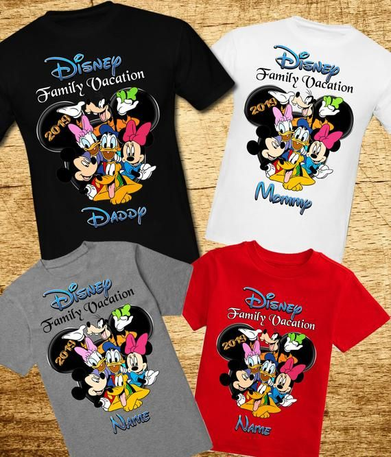 *****MICKEY MOUSE **FAMILY***DISNEY VACATION*******2019***SHIRT IRON ON TRANSFER