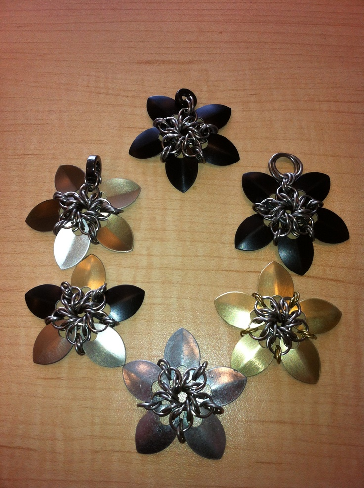 """Chain mail stars.  """"like"""" us on facebook.  Bcchains chain mail and more."""