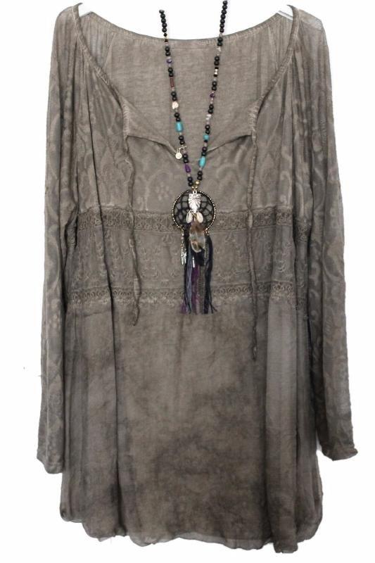 Grande taille –boheme-boho chic-bohemian-tunique-blouse –indien-pompons-plus size