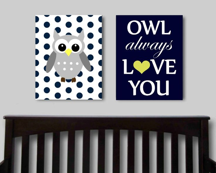 Owl Always Love You, Set Of 2, Printable Nursery Art, Owl Print, Baby Boy Nursery  Art, Childrens Wall Art, Nursery Decor, Blue Nursery Art