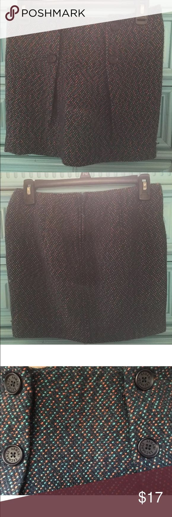 "Armani Exchange Skirt Armani Exchange Skirt Size 0, 13"" length waistline. Super cute and trendy A/X Armani Exchange Skirts Pencil"