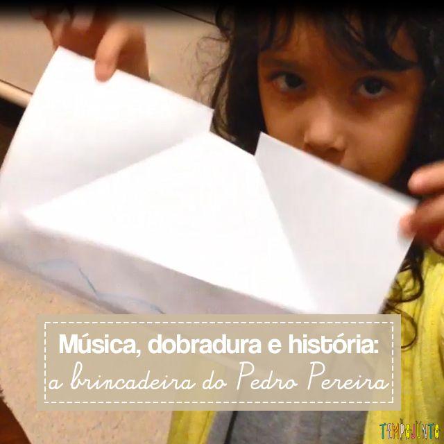 Que tal incrementar a contação de história para as crianças acrescentando um origami de barquinho de papel? Simples e divertida a história de Pedro Pereira