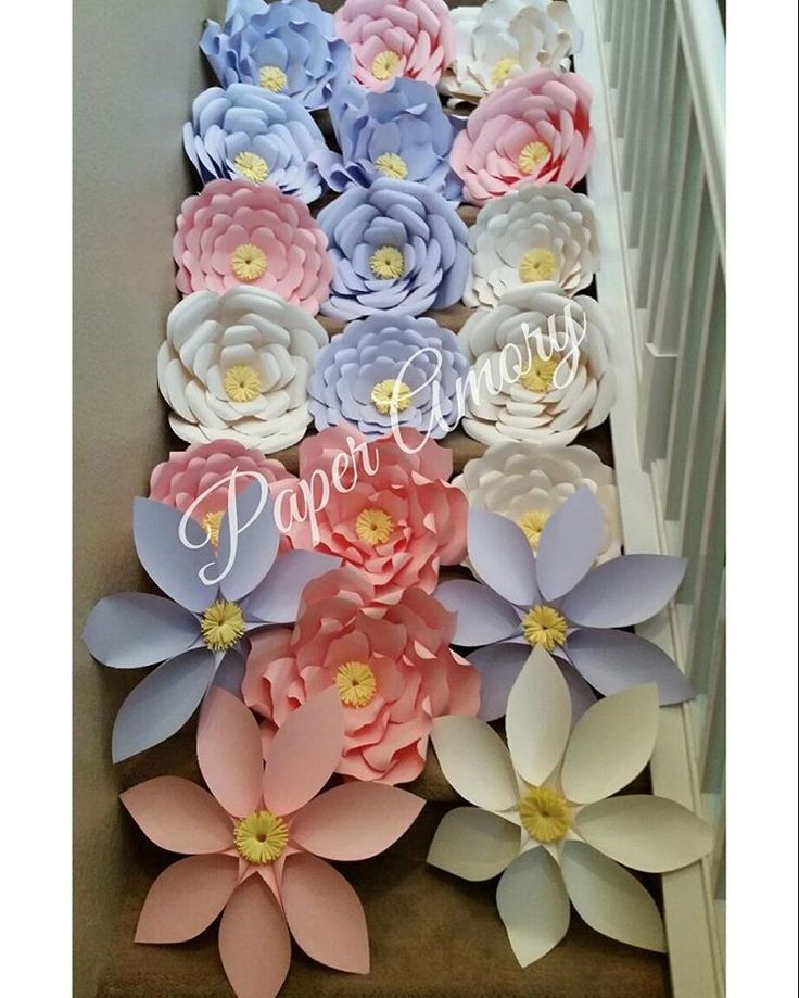 Pastel colored Paper Flower package in lavender, pink and ivory.