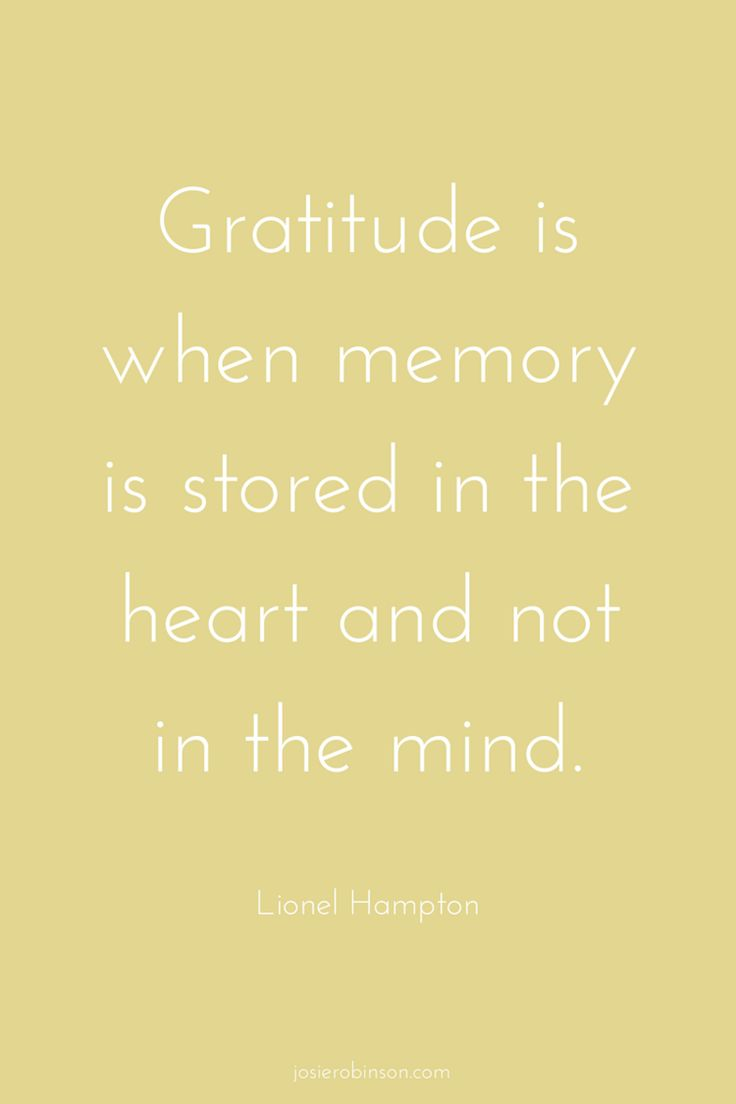 Beautiful gratitude quote from Lionel Hampton...| gratitude quotes | inspirational quotes |