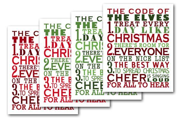 Free Printable Subway Art | Christmas Subway Art Inspired by ELF « Chica Cheeks – Crafty & Fun