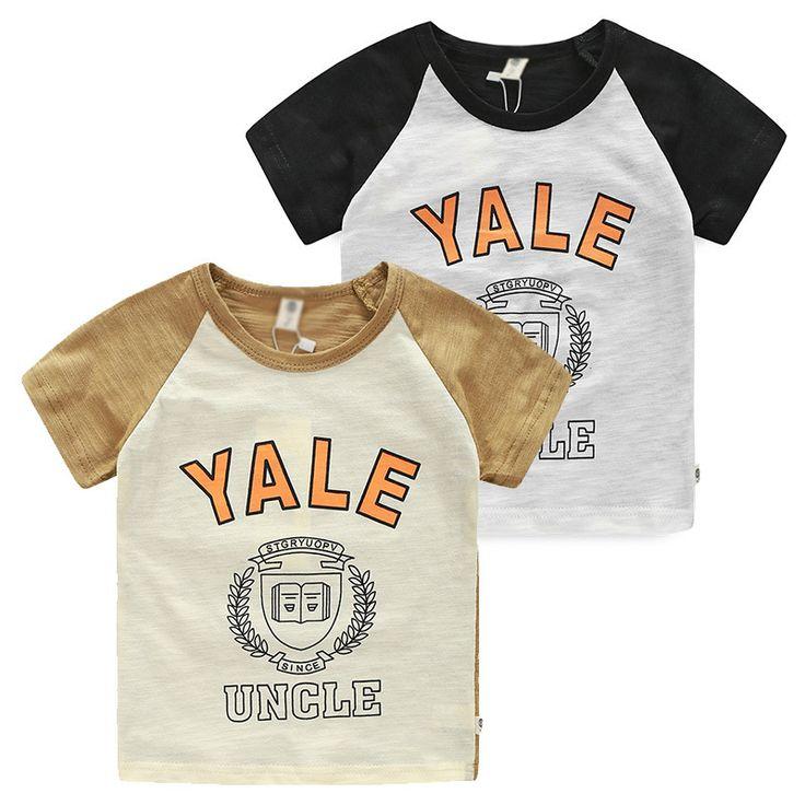 Tx-5522 детские футболки 2015 летний корейский новый детские футболки мальчик футболки детские письма рубашка