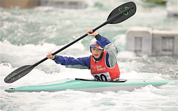 Rapid appeal: Fraser Smalley was inspired to take up canoeing after seeing Etienne Stott win gold at the Olympic Games
