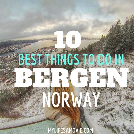 Bergen is a beautiful town in Norway that you can get to by train from Norway. Take a funicular up a mountain, and check out the UNESCO town of Bryggen!