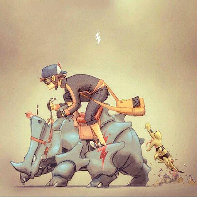 Repost/ Kalos trainer  #pokemon #trainer #pokemontrainer  #pokemongo #repost #work #fanart #drawing #art #anime #characters #rhyhorn #sandile #fletchling #boy #kalos #geek #game #xy #pokemonxy #illustration #lira #ricardolira