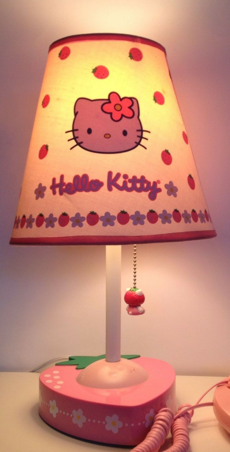 Sanrio Hello Kitty Vintage Strawberry Lamp Light Bedroom Decor Dorm Room Rare