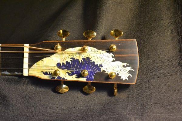 Mason Guitars – Baritone Guitar with Wave Inlay, May 2013