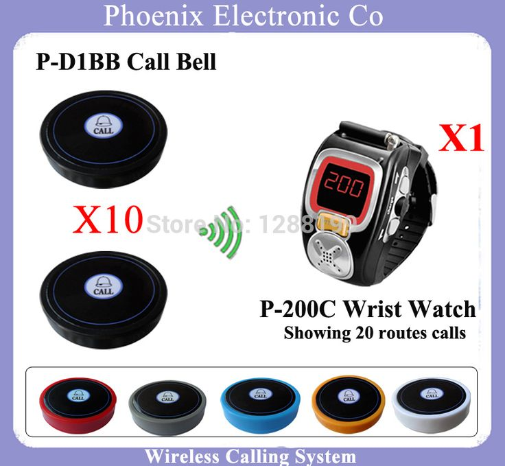 Pager Watch Whole Set Of System Including Wireless Service Calling Button And Display Receiver