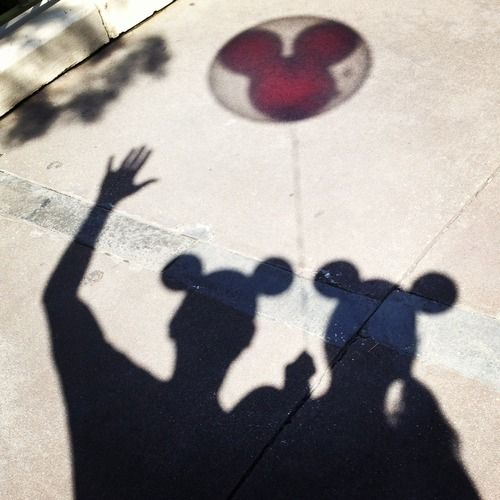Cute Disney couple photo @Heather Woodruff  thought of you :)