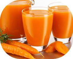 Receita de suco detox de cenoura e laranja para auxiliar a perda de peso e também proporcionar mais disposição. A cenoura ajuda a manter saciado (a).