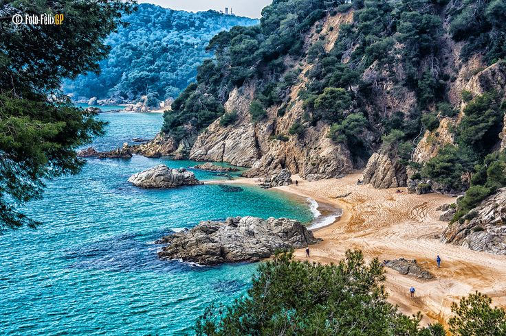 Cala Sa Boadella, Lloret de Mar, Costa Brava, Catalonia, Spain ✯ ωнιмѕу ѕαη∂у