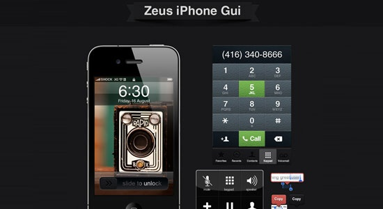 Free Download Zeus: iPhone GUI Elements