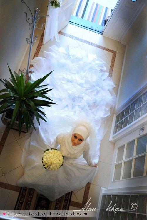 Beautiful hijabi bride