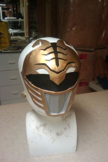 AMAZING How-to instructions to DIY a white ranger power rangers helmet. Halloween? Yes!