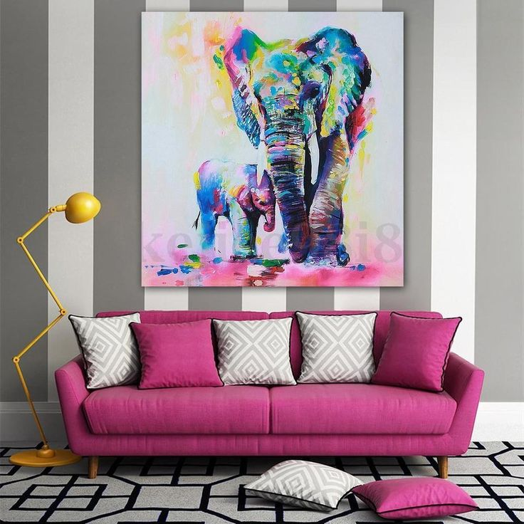 Elephant Print Picture Canvas Baby Multi Watercolour Home Decor Wall Art Gift ♥ LIKE ♥ COMMENT ♥ REPIN ♥ SHARE ♥