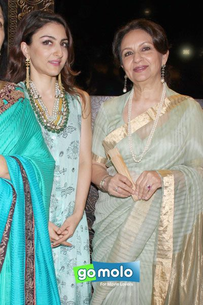 Soha Ali Khan & Sharmila Tagore at the Launch of Sunar Jewellery store in New Delhi