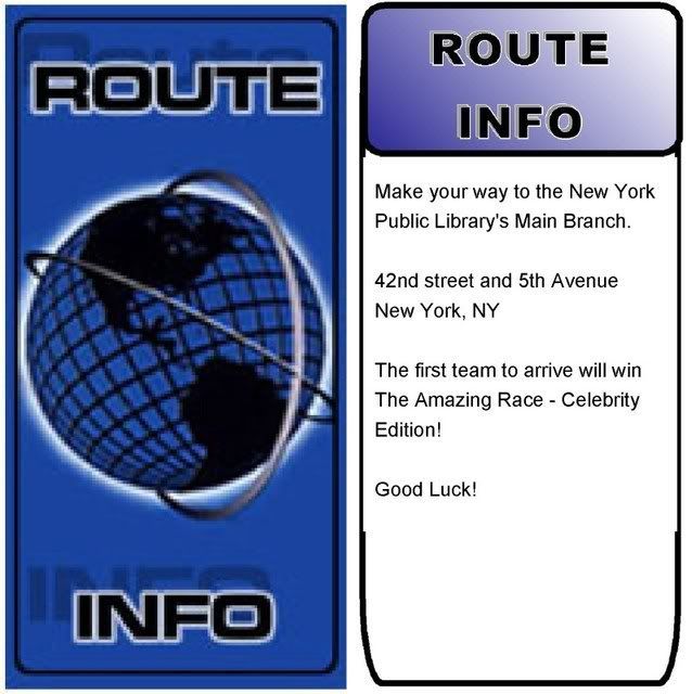 Amazing race route info google search the amazing race for The amazing race clue template
