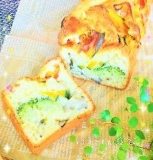 秋の味覚でヘルシーランチ♪ホットケーキミックスde秋野菜たっぷりケークサレ