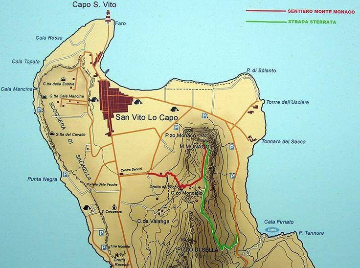 Mappa Monte Monaco