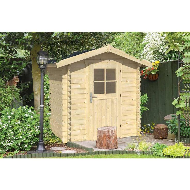 Richard Log Cabin 2.0m x 2.om  The RICHARD Log Cabin is a single door log cabin measuring 2.0m x 2.0m. Constructed using 28mm Spruce logs. It is one of the smaller Tuin log cabins and is an excellent alternative to a traditional garden shed. It features an apex roof and single door and is ideal for storing a plethora of gardening accessories from tools to outdoor toys.