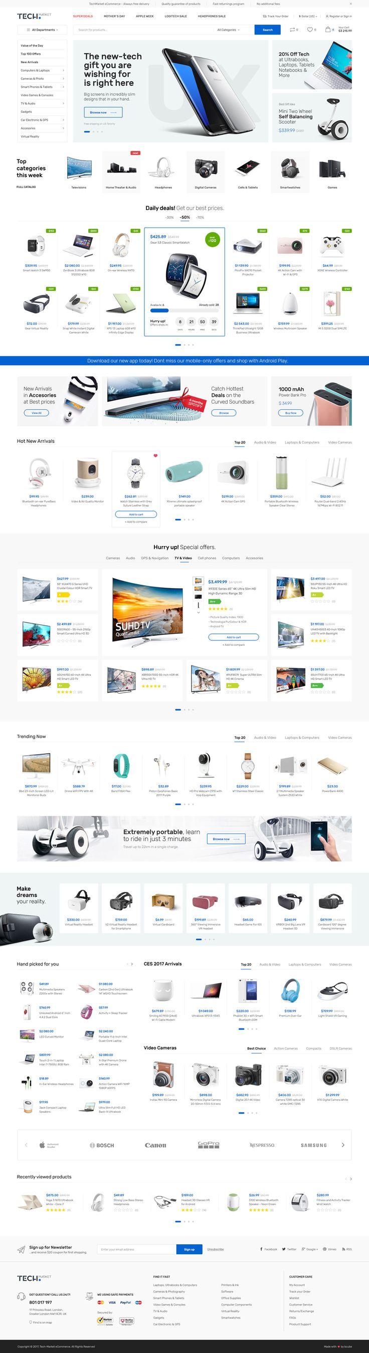 Techmarket - Multi-demo & Electronics Store HTML Template #electronics #Electronics Store #electronics theme • Download ➝ https://themeforest.net/item/techmarket-multidemo-electronics-store-html-template/20977771?ref=pxcr