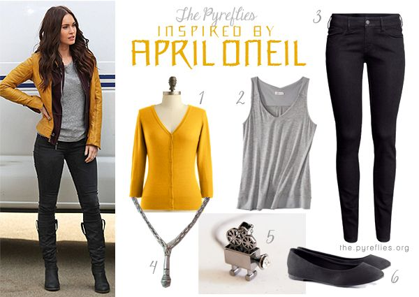Teenage Mutant Ninja Turtles Movie 2014 April O'Neil Inspired Outfit / Look & Accessories