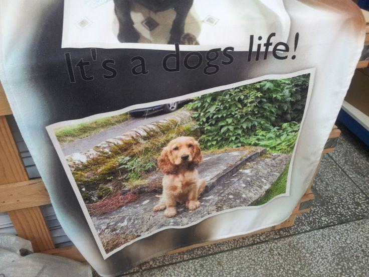 Asciugamano con collage di foto dei propri cani