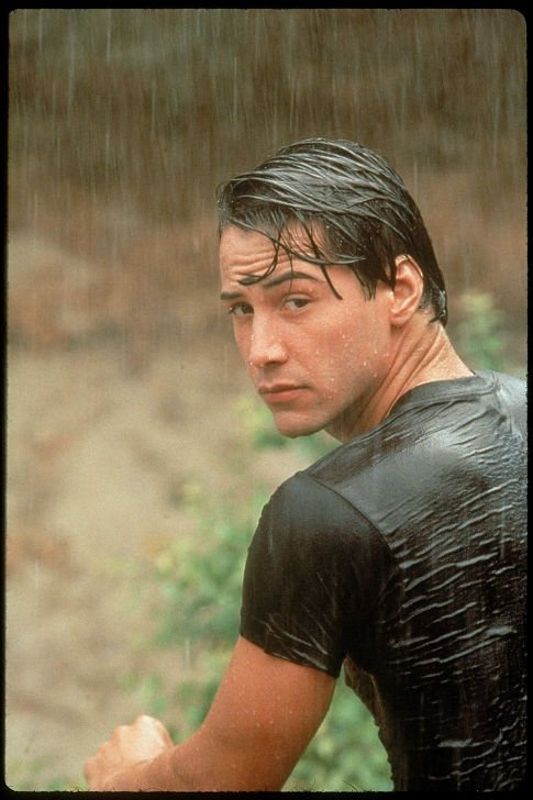 Keanu Reeves... not too bright, but very pretty ;)