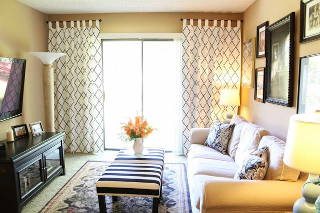 IKEA Hackers Lovely Stenciled Curtains