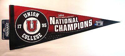 "Union College Dutchmen 2014 National Champions 12""x30"" Premium Pennant"