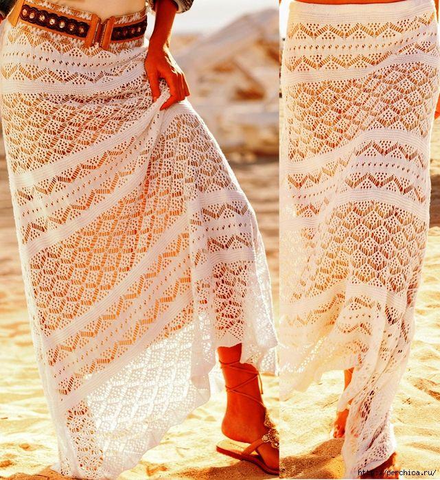 Ажурная юбка связанная спицами в стиле вестерн. Обсуждение на LiveInternet - Российский Сервис Онлайн-Дневников