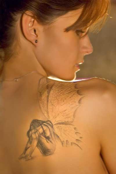 fairy art design | tattoo art by design: Back Body Fairy Tattoos Style