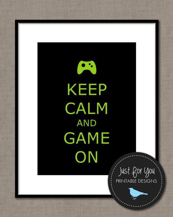 Blijf kalm en Game On - DIY afdrukbare wand kunst decor, voor de gamer van de video in je leven!  Op zoek naar aanpassen aan uw eigen kalm houden poster? Gebruik in plaats daarvan op deze link: https://www.etsy.com/listing/118742444/custom-keep-calm-and-carry-on-you-print?ref=shop_home_active _________________________________________________________________  Na aankoop, ontvangt u een 8 x 10 hoge resolutie digitale bestand downloadbaar via Etsy. Er zullen geen watermerk daarop en geen…