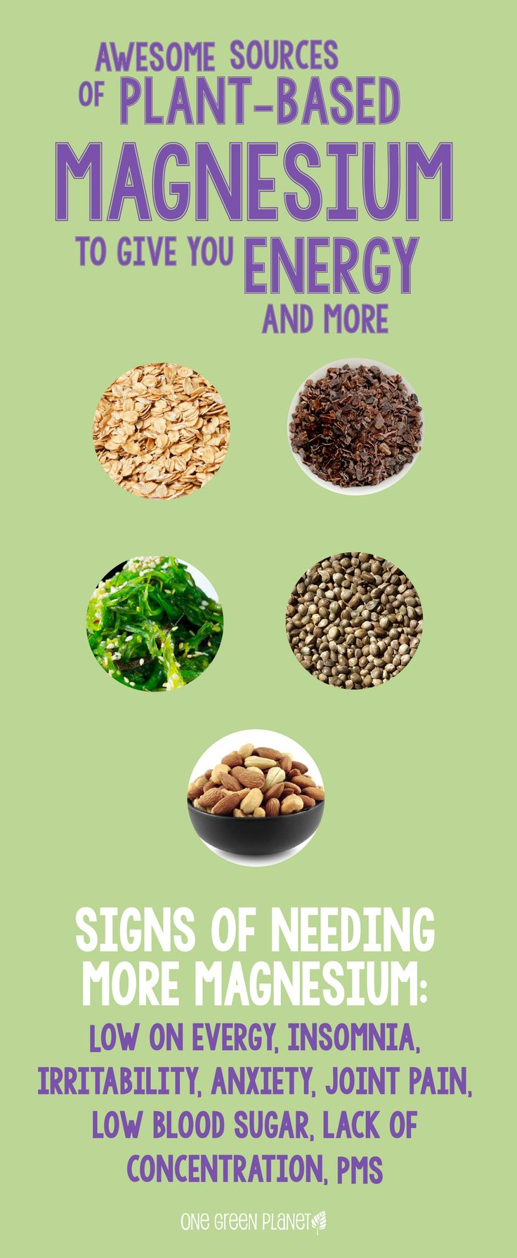 Natural plant based diet: magnesium for energy and more