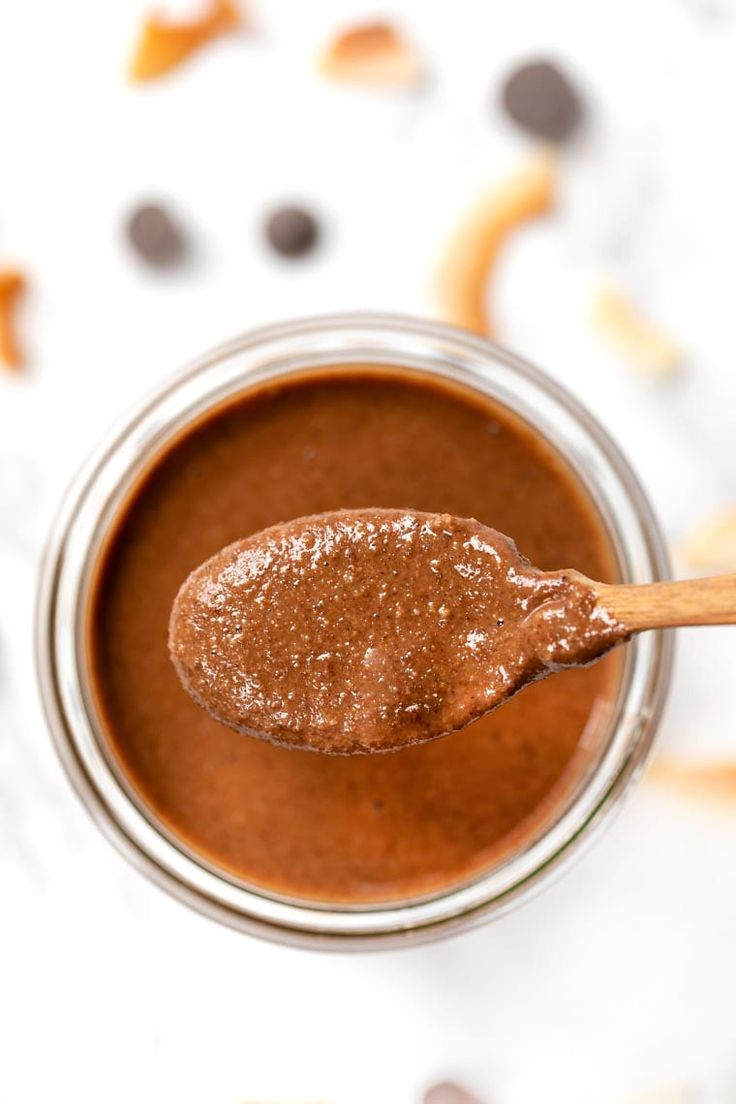 Wie man hausgemachte Kokosnuss-Mandel-Butter mit dunkler Schokolade macht! Dieses Rezept hat …   – Safe Sauces, Bases and Basics