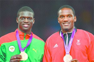 For only the second time in Olympic history, the Trinidad and Tobago flag was raised during a 400 metres medal ceremony.