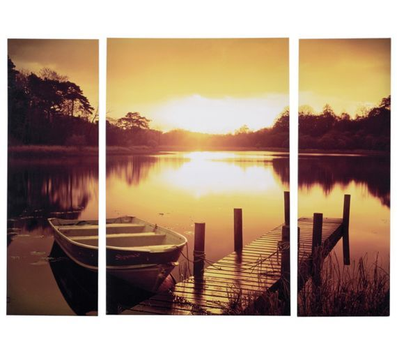 Buy Collection Boat Jetty Triptych Canvas - Set of 3 at Argos.co.uk, visit Argos.co.uk to shop online for Pictures and wall art, Wall art, pictures and photo frames, Home furnishings, Home and garden