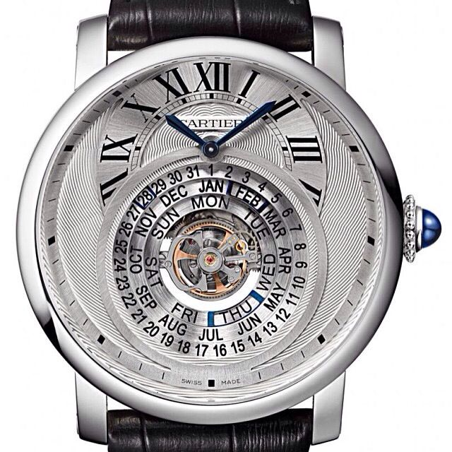 Pre-SIHH: Introducing the Rotonde de Cartier perpetual calendar with concentric day/date/month wheels displayed around a flying tourbillon (LE of 100)