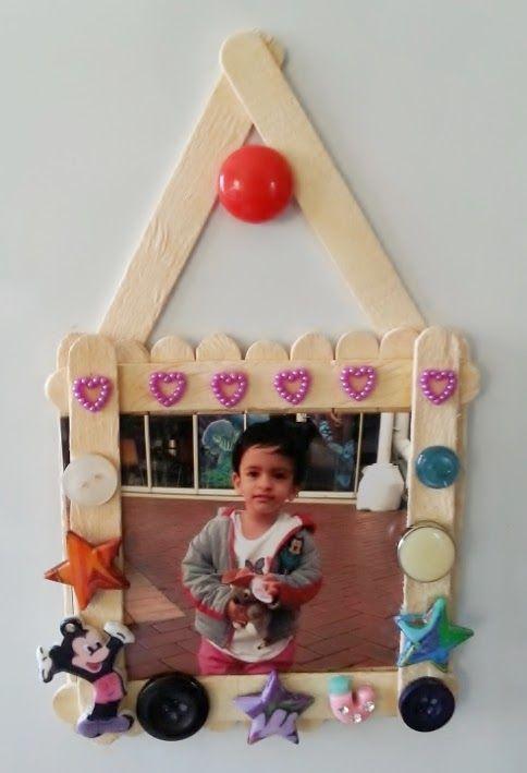 Life's little treasures: Ice cream stick photo frame | #JustForKidsLinkUp