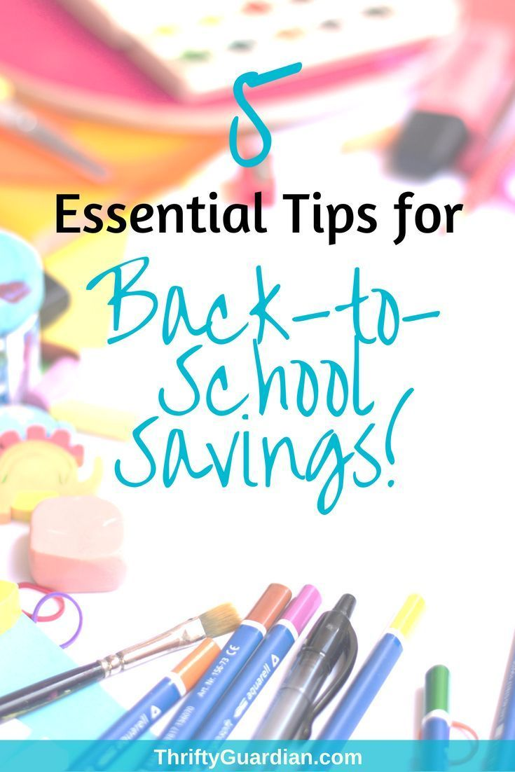 553d4bbf13 Back-to-school shopping and saving - five tips on how to save money when it  comes time to shop for school supplies and clothes! Save money on kids  clothes